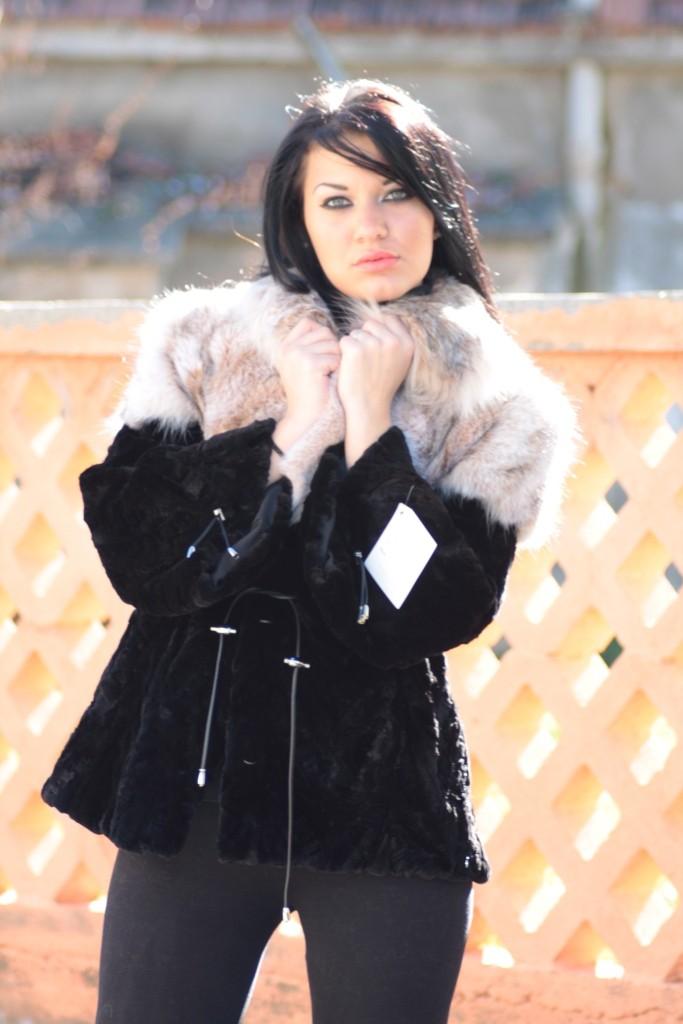 black mink fur jacket fur fashion 2011