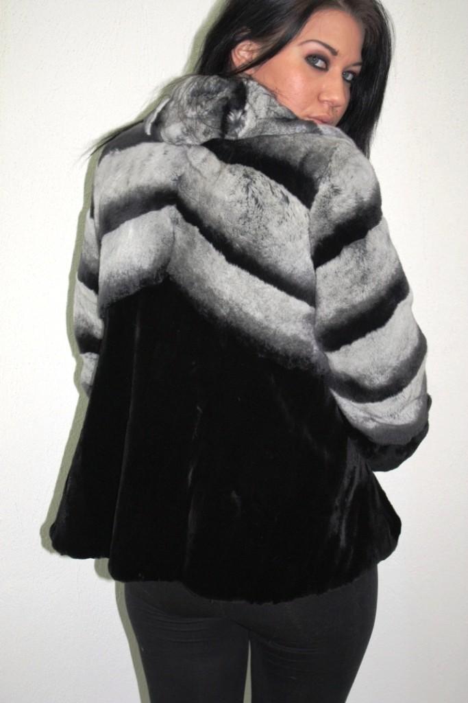 black mink fur jacket in our furstore