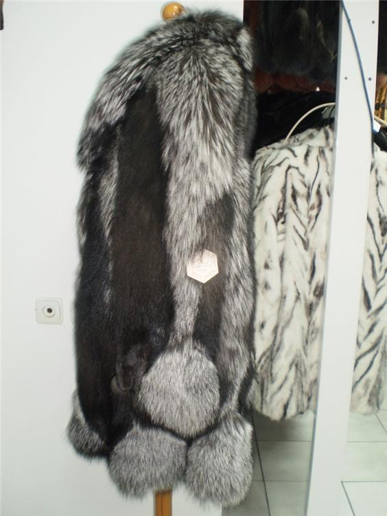 buy silver fox fur coat in fur store available in all sizes