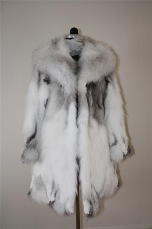 platina fox fur coat