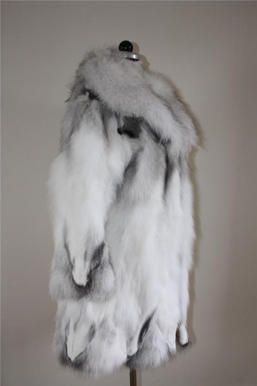 platinum fox fur coat