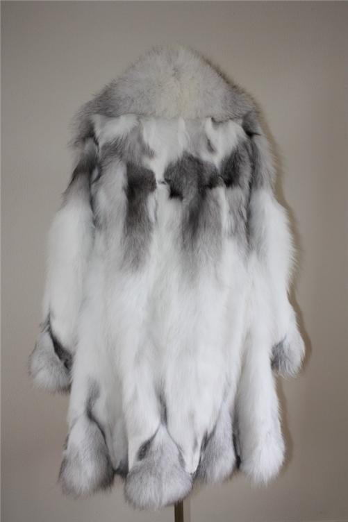platinum fox fur coat in our fur store