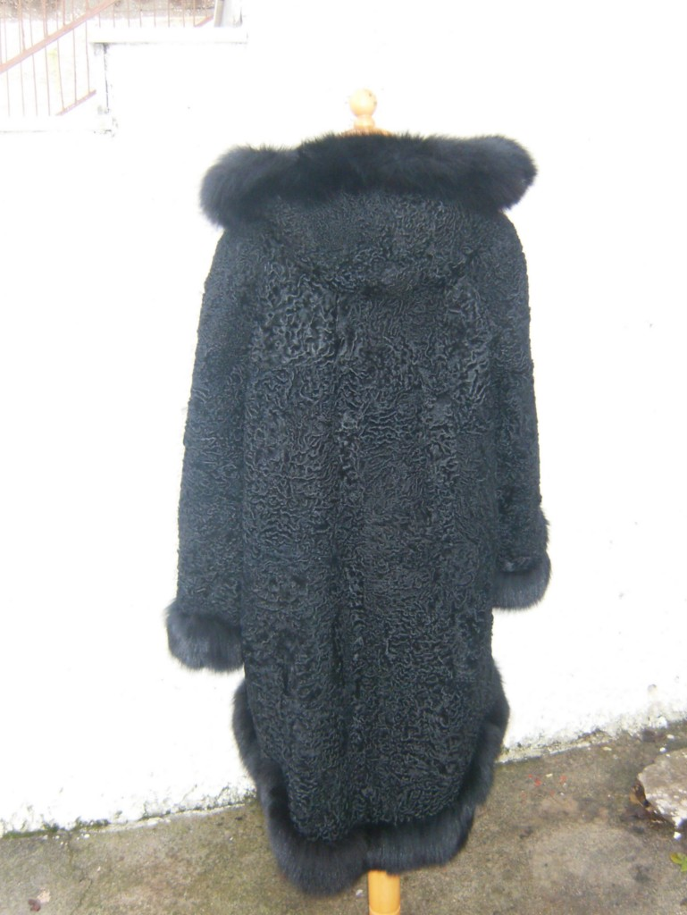 full length persian lamb fur coat