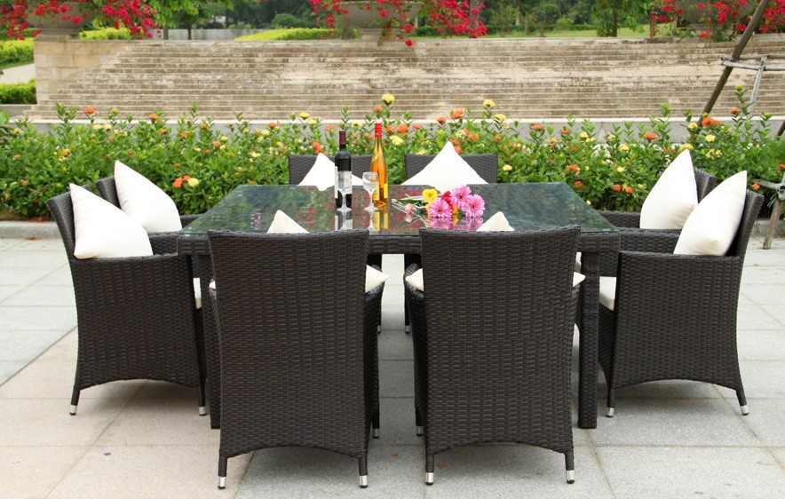New Wicker BBQ Indoor Outdoor Dining Setting Table with 8  : 626086788o from www.ebay.com.au size 884 x 562 jpeg 158kB