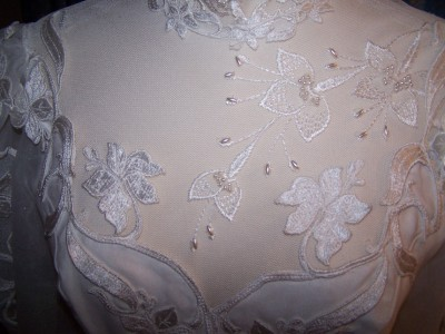 Vintage Wedding Flowers on Vintage Wedding Gown Dress Bridal Flowers Sz 4   Ebay