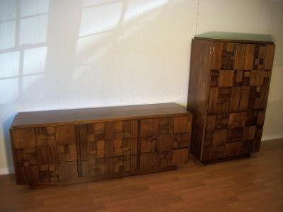 MODERN Bedroom Set BRUTALIST Credenza Dresser LANE EBay