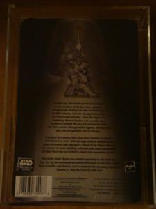 2002 STAR WARS SAGA EXCLUSIVES SILVER TOY FAIR DARTH VADER MOC AFA 90
