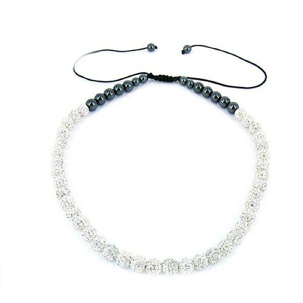 Sexy Women Shamballa Necklace 10 CZ Disco Crystal Ball Beads Fashion Jewelry