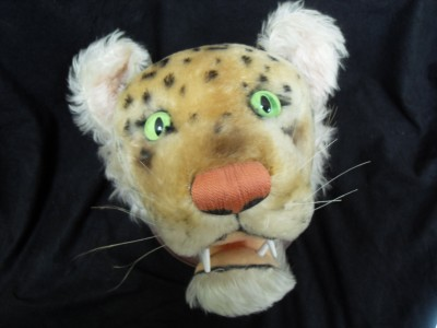 vintage steiff trophy head rare mounted leopard mohair cat stuffed animal ebay. Black Bedroom Furniture Sets. Home Design Ideas