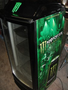 Monster Energy Drink Refrigerator With Glass Door