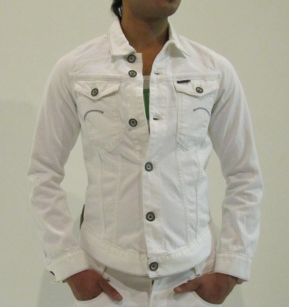 G-Star-Jacket-Arc-3D-Tricker-Denim-Splend-Aged-White-Men-New-All-Sizes-Available