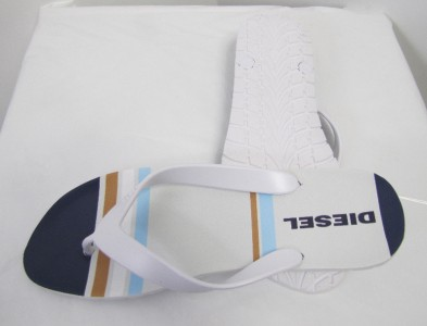Diesel Shoes Splish Flip Flops Sandals Designer White Men New | eBay