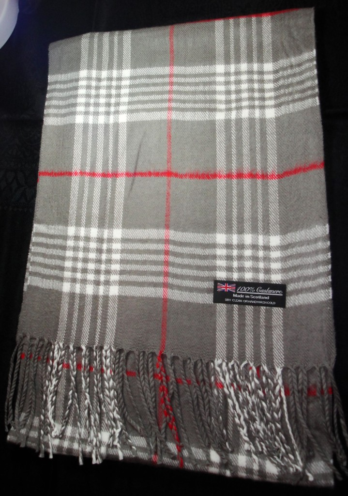 New-100-Cashmere-Scarf-Cyan-Blue-Red-Black-Check-Plaid-Scarf-Scotland-Wool