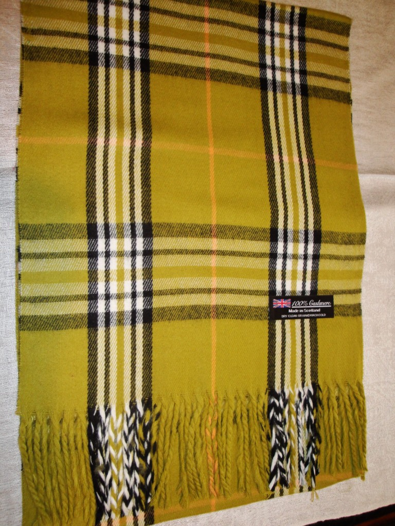 New 100% Cashmere Scarf Purple White Black Check Plaid Scarf ...