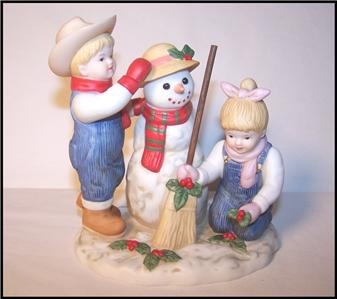 Homco Home Interiors Denim Days Holiday Time Snowman