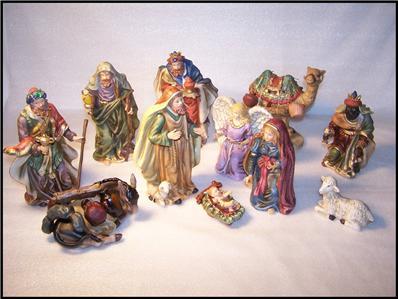 2001 Homco Home Interiors The Nativity 12 Piece Nativity