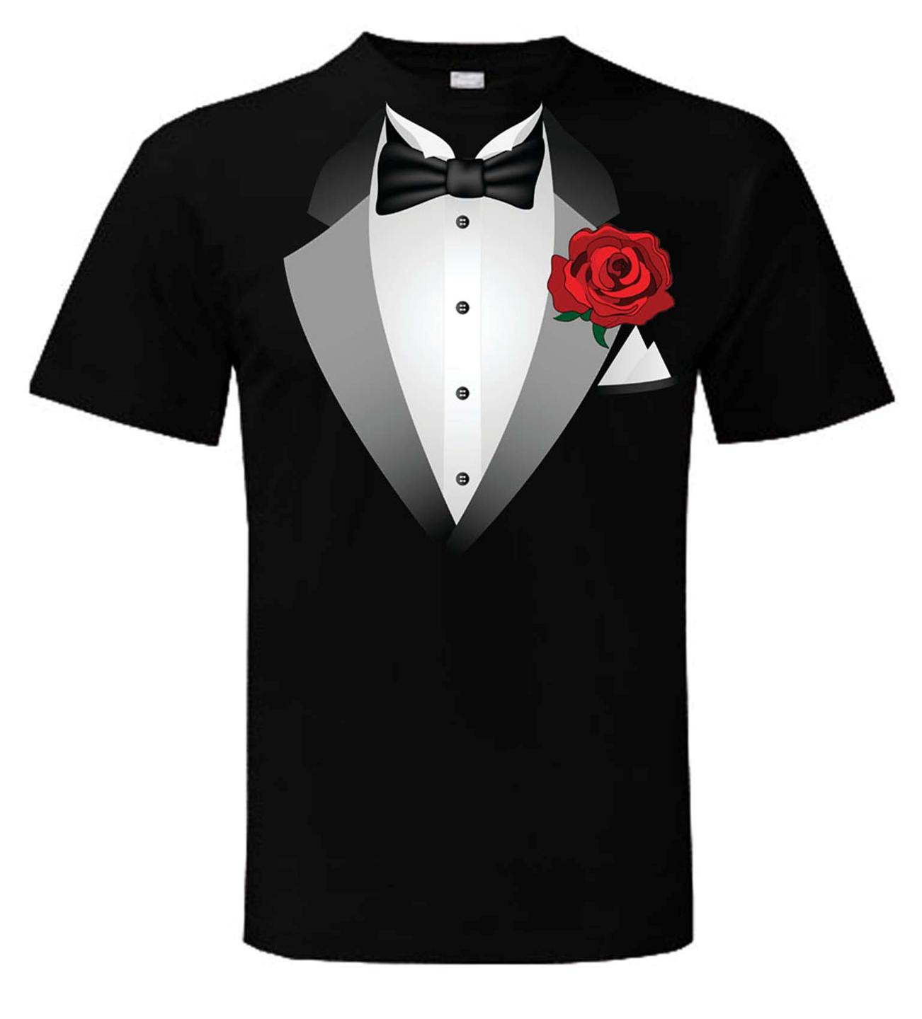 Tuxedo T Shirt Fancy Dress Outfit Stag Party Tux