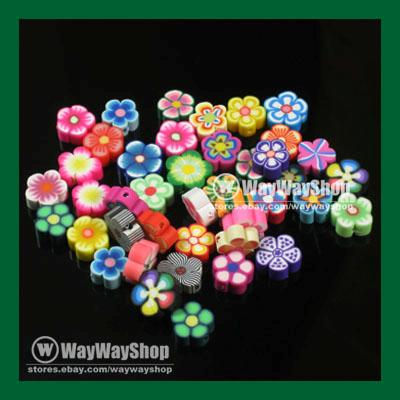 100-Pcs-Nail-Art-DIY-mixed-fimo-Polymer-Clay-Spacer-Beads-Hole-6mm-10mm-3