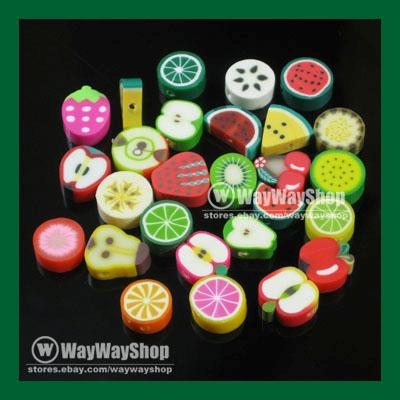 100-Pcs-Nail-Art-DIY-mixed-fimo-Polymer-Clay-Spacer-Beads-Hole-6mm-10mm-d