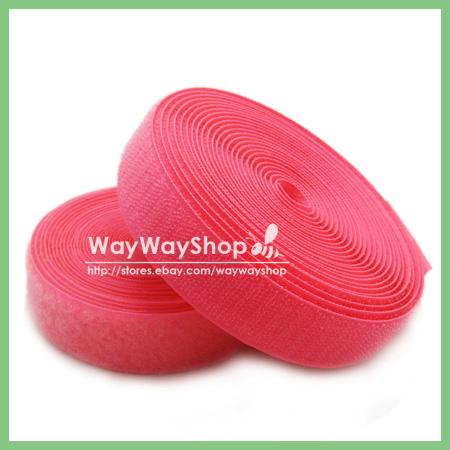 """1 inch 5 yards Sew-On Hook and Loop Tape 1"""" Mix Color"""