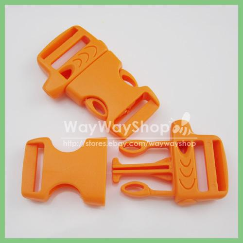 10-pcs-Emergency-Whistle-Buckles-side-release-Paracord-BRACELETS-3-4-19mm-BB20