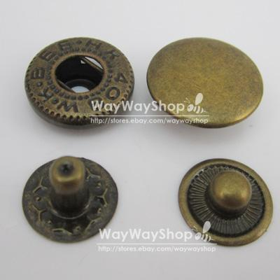 Leather-craft-Rapid-Rivet-Button-METAL-Snaps-Fasteners-15mm-5-8-50-100-500-set