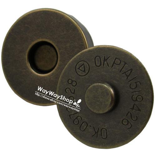 """10 25 50 100 pcs 3/4"""" 18mm Magnetic snaps purse closures Round Pick Color"""