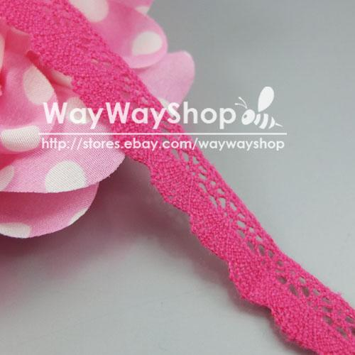 """10 20 50 Yards cotton crochet delicate lace trim sewing Edging 12mm 1/2"""" YD2161"""