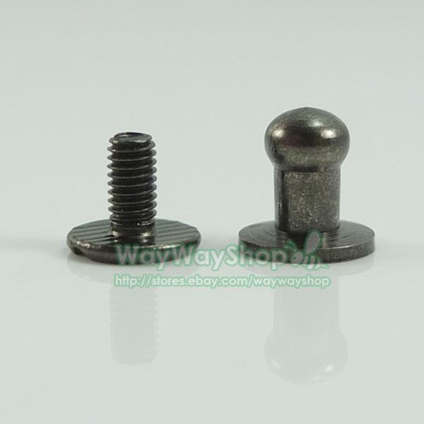Sets head button stud screwback leather screw