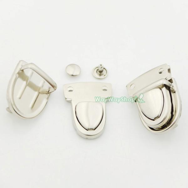 2 5 10 20 pcs Closure Catch Tuck Lock for Leather Bag Case Clasp Purse