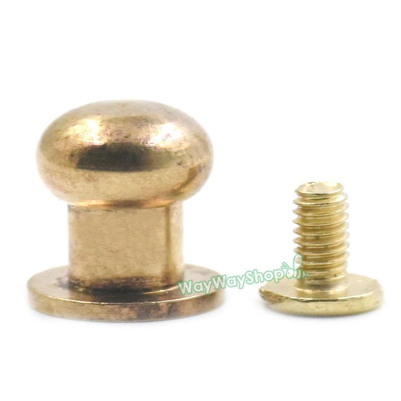 Head button brass stud screwback screws back spots for