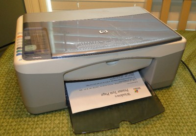 hp psc 1210 all in one inkjet printer 808736521390 ebay. Black Bedroom Furniture Sets. Home Design Ideas