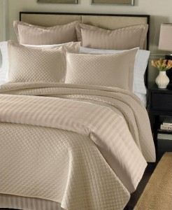 Charter Club Damask Stripe Full Queen Duvet Cover Taupe