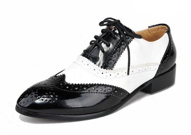 ntw black white mens oxford costume shoes dress