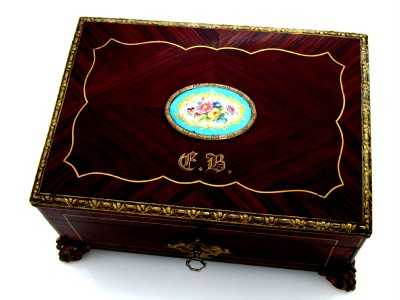 Antique Marquetry Furniture on Antique French Marquetry Casket S  Vres Plaque   Ormolu   Ebay