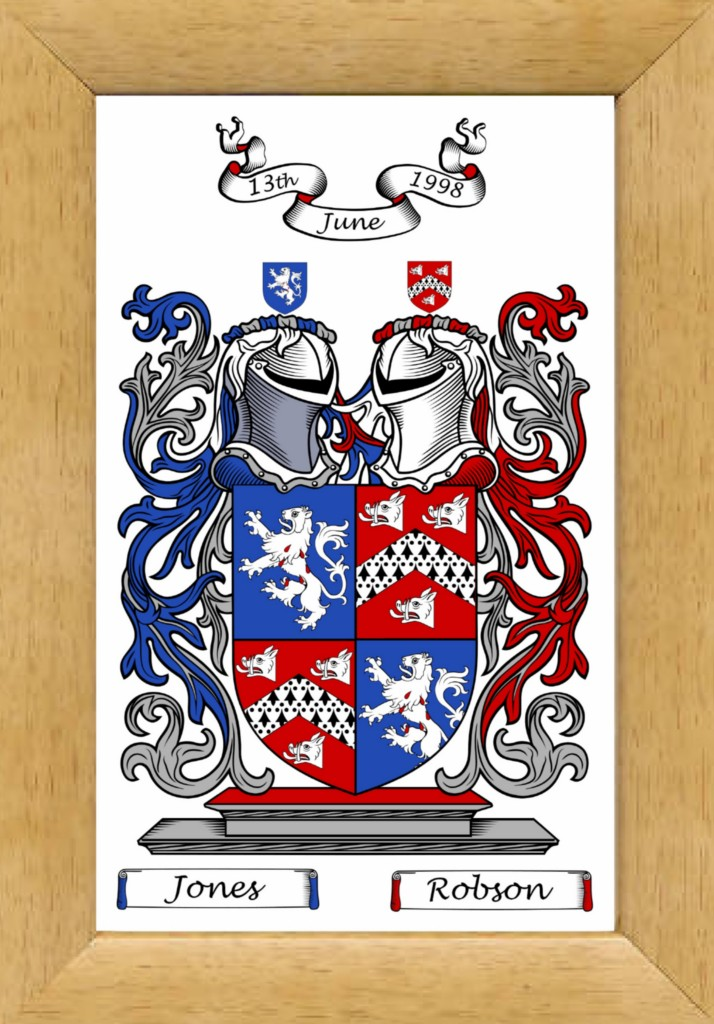 If you like a print of your family crest instead of an emailed