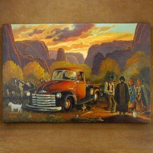 Sheep Camp in the Canyon 53 Chevy Pickup Truck Painting Limited