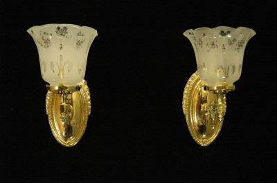 Antique Gas Wall Sconces : ANTIQUE VICTORIAN BRASS GAS WALL SCONCES CIRCA 1885 eBay