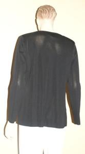 Ming Wang Black Leopard Print Reversible Jacket 2X