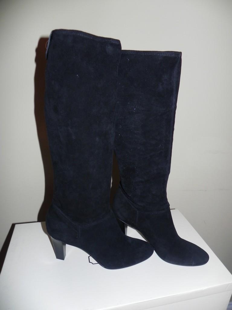 nib coach mina black suede leather boots size 10 11 ebay