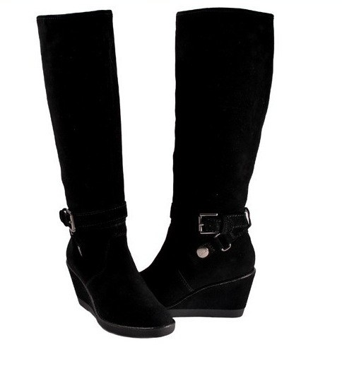 coach candid black suede wedge boots available ebay