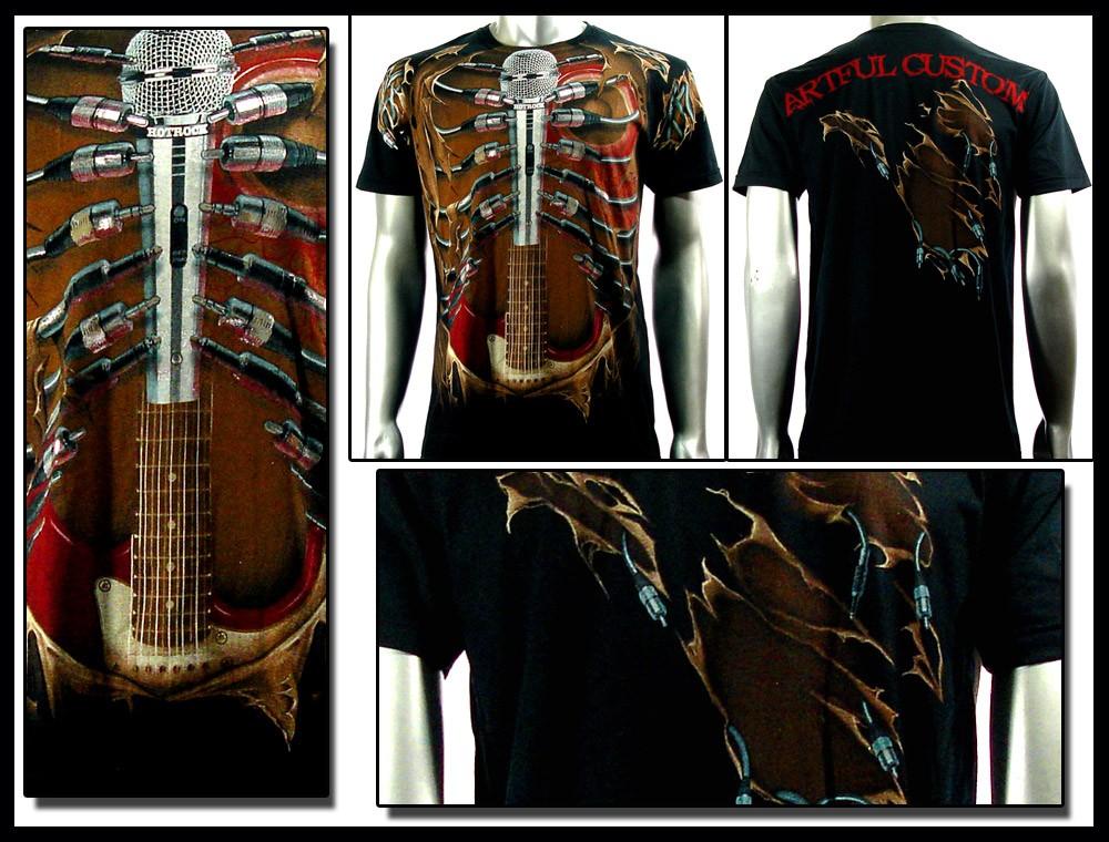 Shirt Tattoo Rock AB47 Sz M L XL XXL Guitar bmx Graffiti Punk