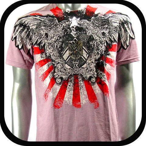 Artful Couture T Shirt Tattoo Indie Rock AP17 Sz XXL 2XL Biker Skull