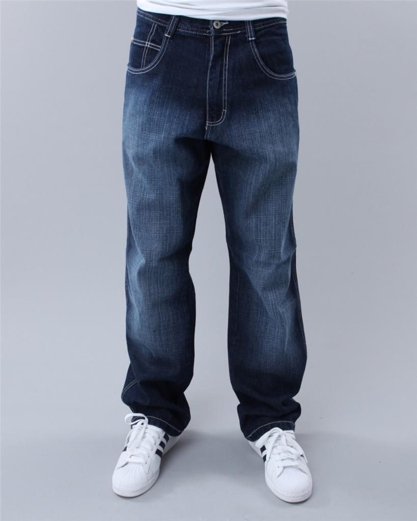 48x These jeans fit so well, they are NOT baggy in the legs (not skinny jeans for sure) but, unlike big mens jeans these are slightly tapered from knee to ankle and look much more stylish than your normal big mens jeans. They do have a little stretch so hubby says they are very comfortable.