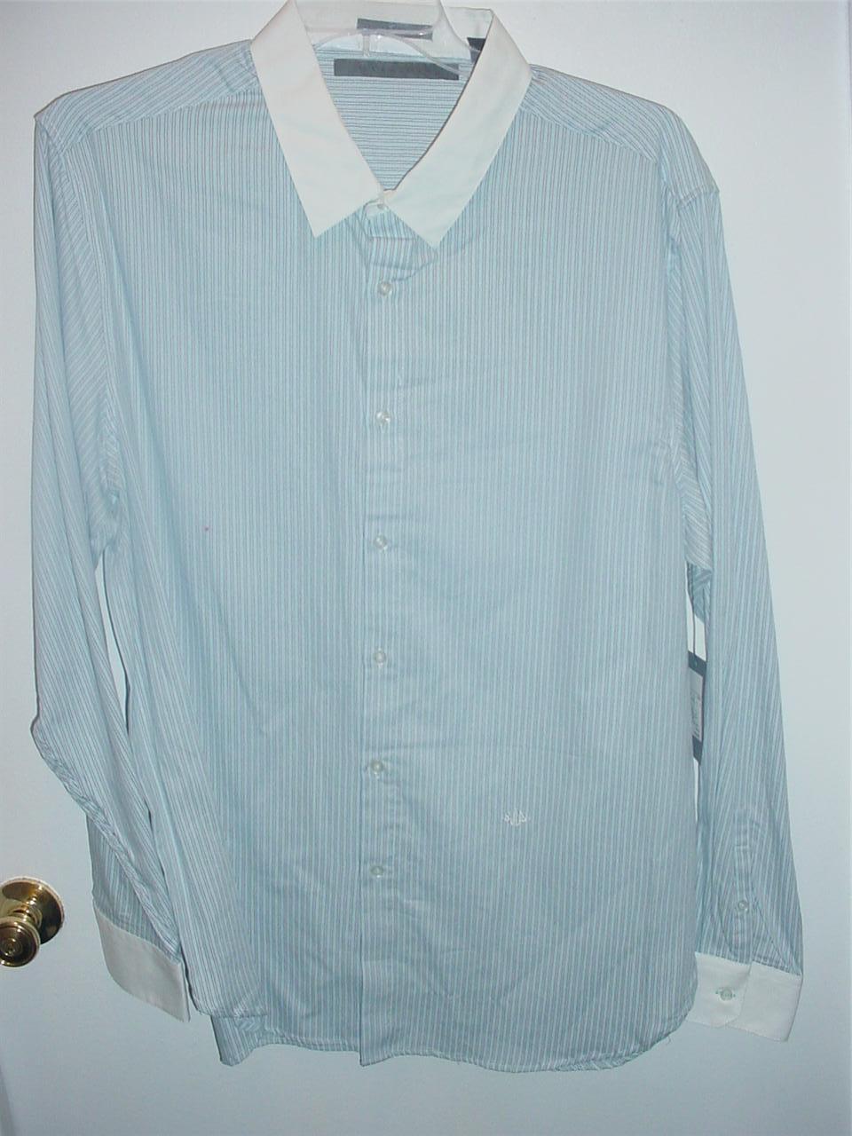 new mens sean john long sleeve dress shirt size 2x 3x xl