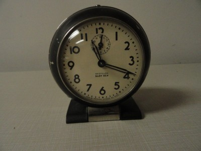 Vintage Westclox Baby Ben Wind Up Alarm Clock Works Made
