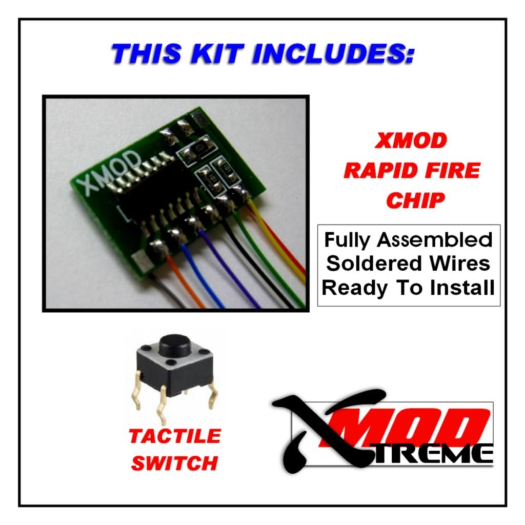 XMOD Rapid Fire Kit   20 mod  3 PK   DROP SHOT   JITTER