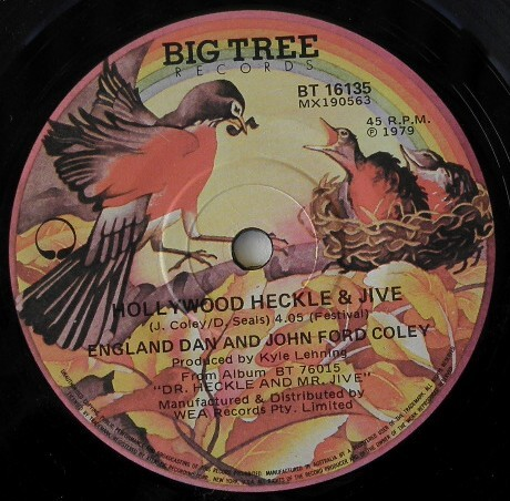 ENGLAND-DAN-J-F-COLEY-HOLLYWOOD-HECKLE-1970s-CLASSIC-ROCK-45-RPM-SINGLE