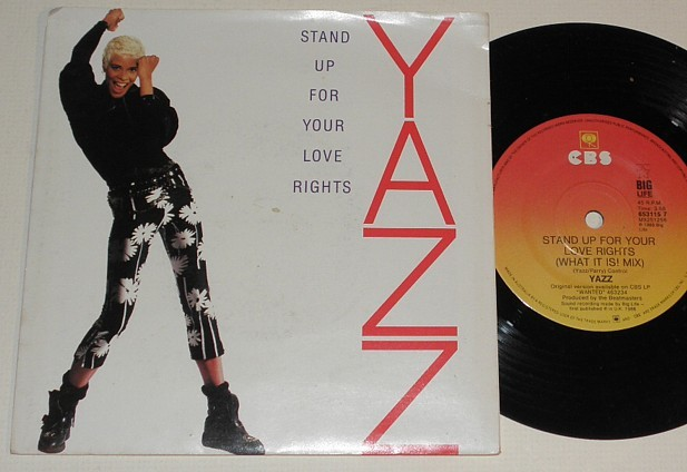 YAZZ-STAND-UP-FOR-YOUR-LOVE-RIGHTS-P-S-45-1980s-TOP-40-DANCE-POP