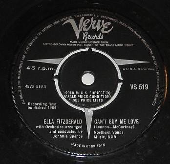ELLA-FITZGERALD-45-CANT-BUY-ME-LOVE-1964-BEATLES-SONG-BIG-BAND-JAZZ